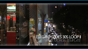 Elegant Slides 30s Loop II - Apple Motion and Final Cut Pro X Template Apple Motion Template