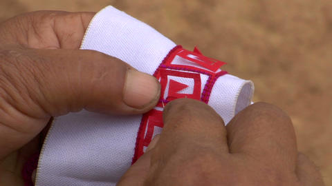 Akha Hand Sewing Footage