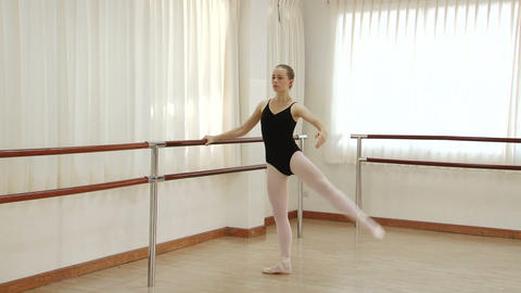 Ballet Dancer Practicing stock footage