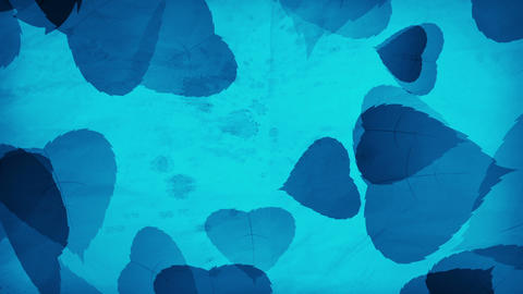 Blue Leaf background Loop Animation