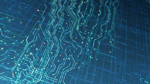 Circuit Board Motion Background Loop Animation
