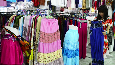 Clothes Shopping stock footage