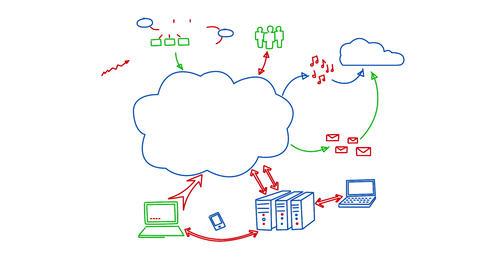 Cloud Data Puzzle Animation
