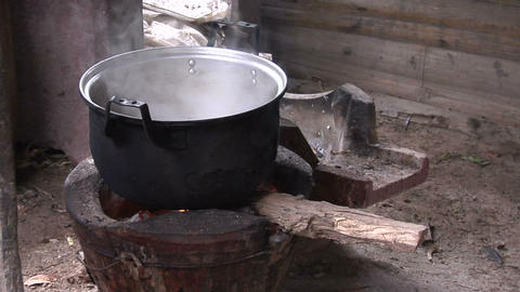 Cooking Pot-Karen stock footage