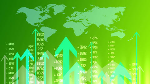 Currency Background Green Animation