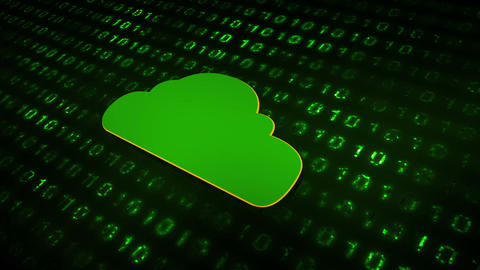 Data Cloud Green Animation