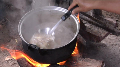 Hot Soup-Karen stock footage