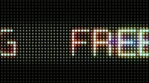 Light Panel FREE PARKING stock footage