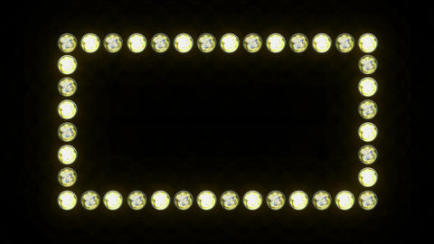 Lights Border Frame stock footage