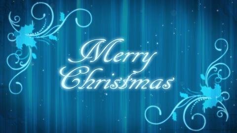 Merry Christmas Blue Background Animation