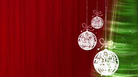 Merry Christmas Decorations Red Stock Video Footage