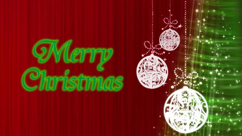 Merry Christmas Decorations Red Animation