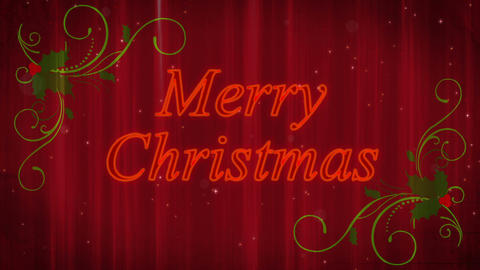 Merry Christmas Holly Flourish Background Animation