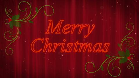 Merry Christmas Holly Flourish Background Animation