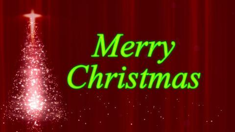 Merry Christmas Tree Stars Red Animation