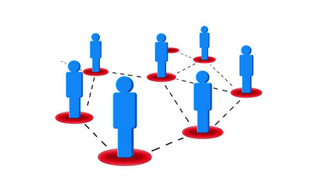 Networking Blue Animation