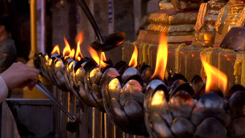 Oil Lamps Footage