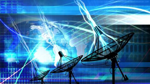 Satellite Dish World Animation