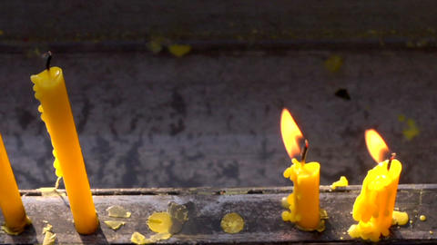 Small Candles stock footage