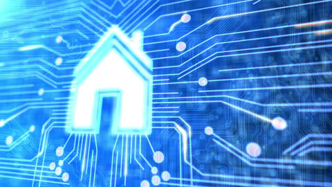Smart Home Technology stock footage