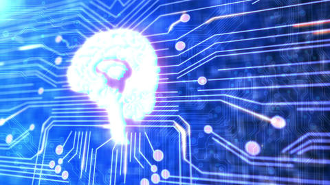 Techno Brain Footage