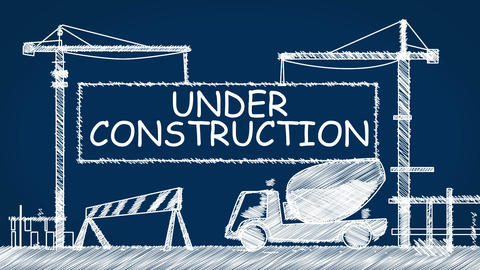 Under Construction Animation Stock Video Footage