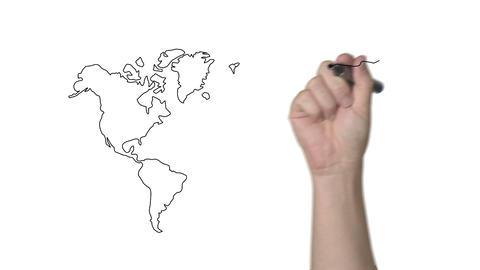 Whiteboard World Map Animation