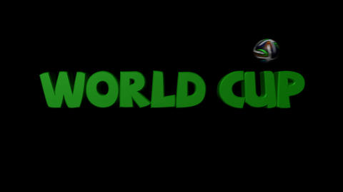 World Cup Text Shatter Matte / Fill Animation