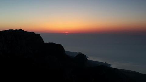 Timelapse sunrise in the mountains Ai-Petri. Alupk Footage