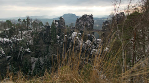 Germany Saxon Switzerland Bastei Time Lapse 11269 stock footage