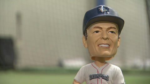 Baseball bobblehead Footage