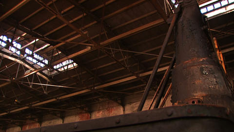 Bethlehem Steel Inside Factory stock footage