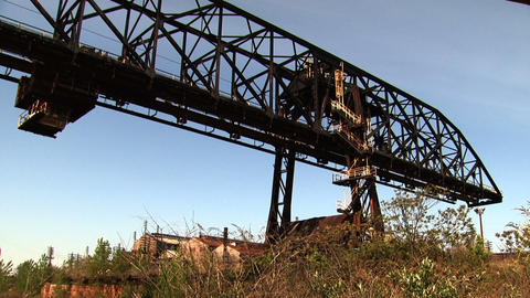 Bethlehem Steel Crane stock footage