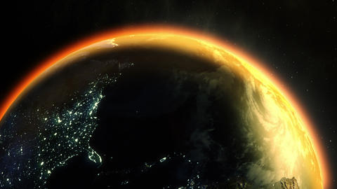 Earth's Global Warming (24fps) Stock Video Footage