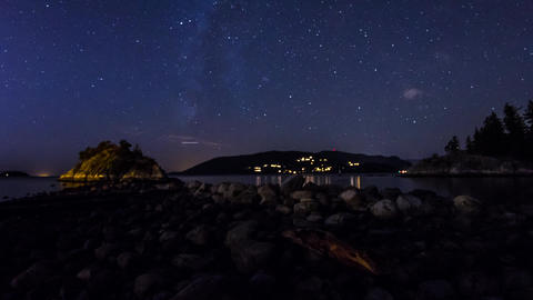 Milky way shot at Whytecliff Park Footage