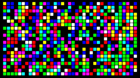 Colorfull pixels Animation