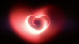 Romantic Valentine Heart Animation Stock Footage stock footage