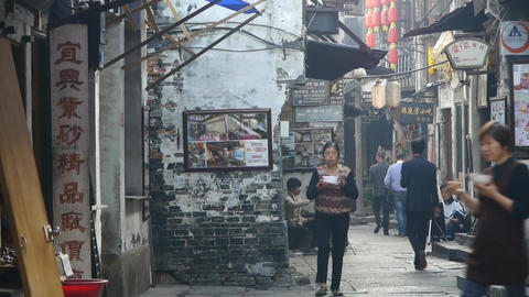 traditional Chinese old town houses & street,Chinese… Stock Video Footage