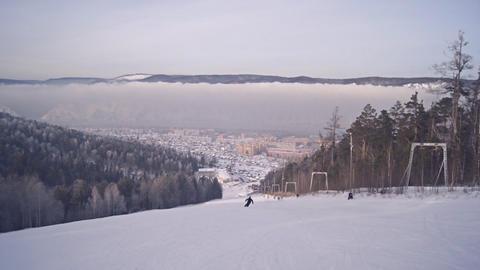Divnogorsk Skiing 14 Footage