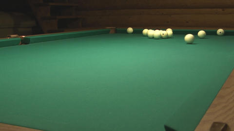 Russian Billiard stock footage