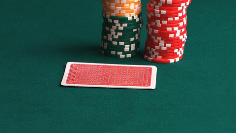 Poker hand Stock Video Footage