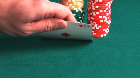 Poker Hand stock footage