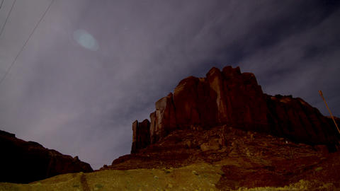 Astro Mountain Tracking Time-lapse Footage