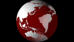 Breaking News Globe, Red W/ Alpha (30fps) stock footage