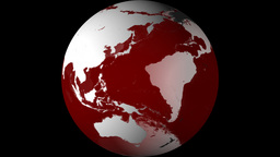 Breaking News Globe, Red w/ Alpha (24fps) Animation