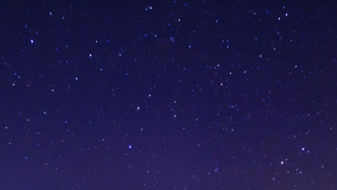 Starry Sky In Winter Time Lapse stock footage