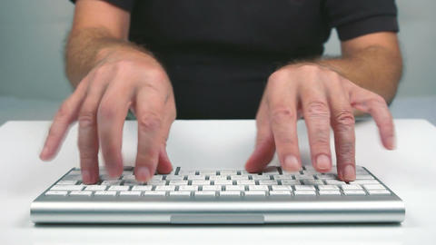 Typing Funny stock footage
