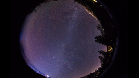 Full View Of Night Sky With Mist Covering stock footage