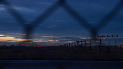 Twilight At YVR Airport stock footage