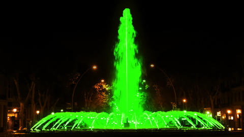 Multicolored fountain. Seamless looped Footage